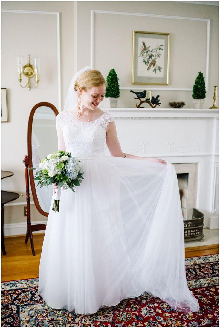 Light blue hydrangea bouquet   Colonial Bed & Breakfast Wedding