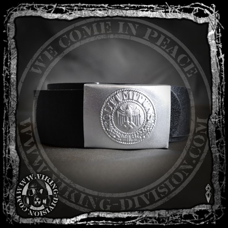 """German EM Belt w Heer Belt Buckle - Reproduction Based on the version used in World War 2, made of leather, with steel buckle and fittings.The front is detailed with """"Gott mit uns"""" and the back has a GB makers stamp. Available from our webstore."""