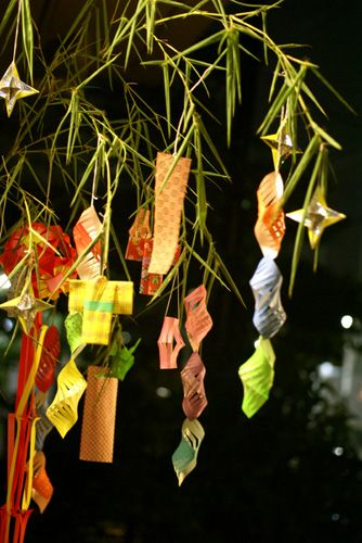Tanabata : Tanabata is a Japanese star festival on 7th July. Similar to Valentine's Day in the west, it's dedicated to two lovers who are separated in the heavens until this day, when swallows fly up and create a bridge for them to meet on.