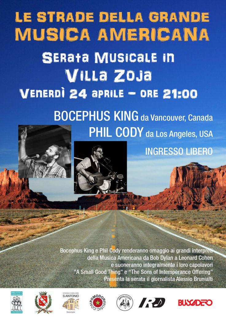 24 aprile2015 Bocephus King + Phil Cody live in Concorezzo (Monza e Brianza ) dalle ore 21 ! Vi aspettiamo