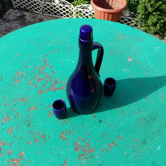 Ceramic Vintage wine set. Pitcher and 2 от USSRVintageShopUSSR