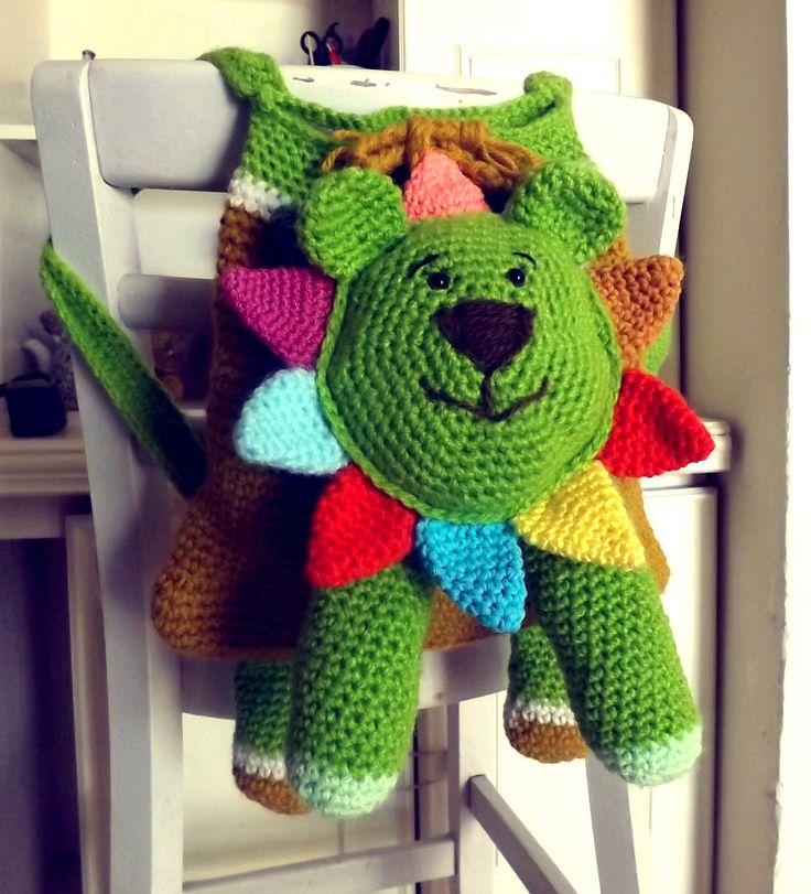 mochila tejida. Crochet bag. Crochet entretenido