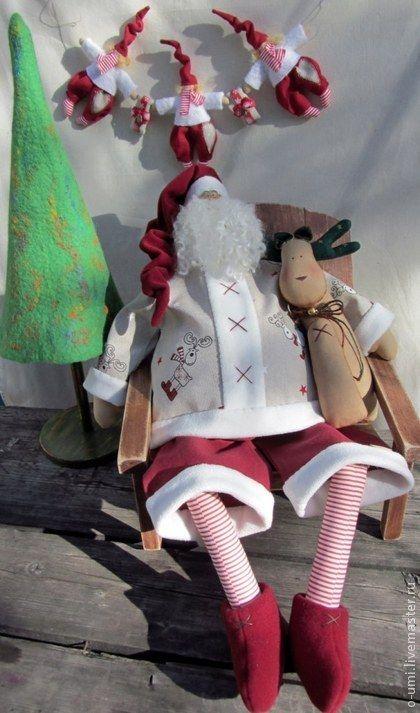 Куклы Тильды ручной работы. Ярмарка Мастеров - ручная работа Санта-Клаус для Яны. Handmade.