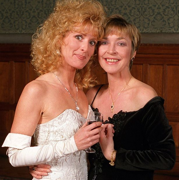 Close bond: Anne Kirkbride and Beverley Callard at the 35th anniversary of Coronation Street party