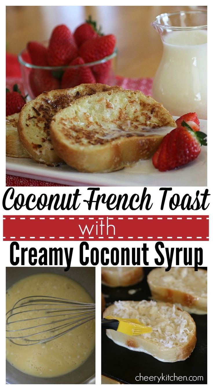 Sensational Coconut French Toast with Creamy Coconut Syrup is a heartwarming breakfast for your beloved. You'll both delight in each crusted coconut bite drizzled with heavenly syrup!