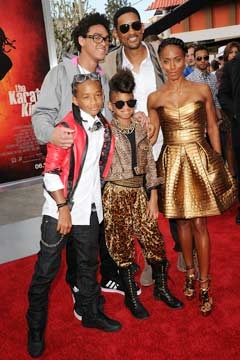 Will Smith and family. Who's the oldest kid?! Haha unheard of