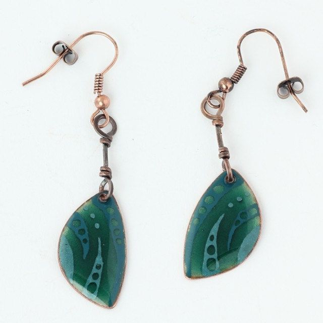 Gorgeous handcrafted enamel earrings by intuitashop on Etsy