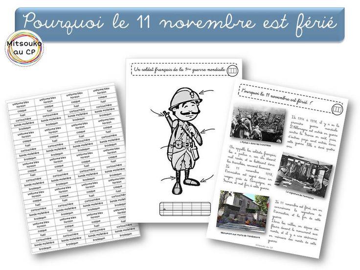 Pour expliquer pourquoi le 11 novembre est férié, et aborder un tout petit peu la 1ère guerre mondiale - Documents et liens vidéos.