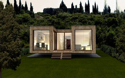 Although not container based construction, design and layout may very well be utilized.  ekokoncept prefabricated houses