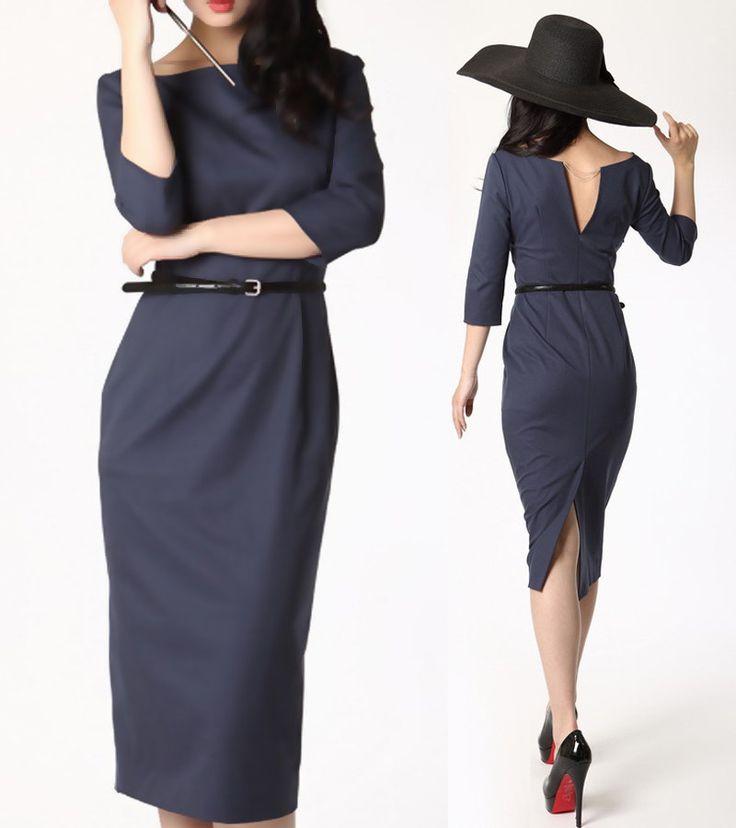 audrey hepburn dress 50s dress 1950 dress vintage inspired long sexy dress. $130.00, via Etsy.