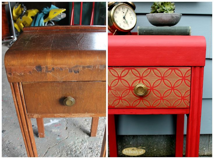 Best Diy Glitz And Glam Nightstand Makeover Themed Furniture 400 x 300
