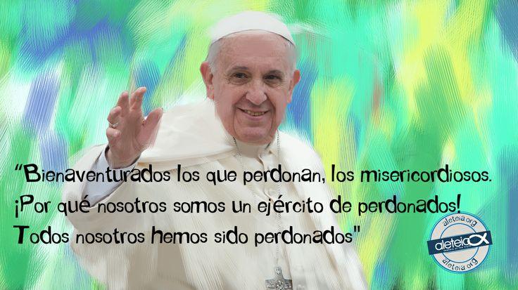 """La frase de hoy de #PapaFrancisco: """"¡Bienaventurados los que perdonan...!"""""""