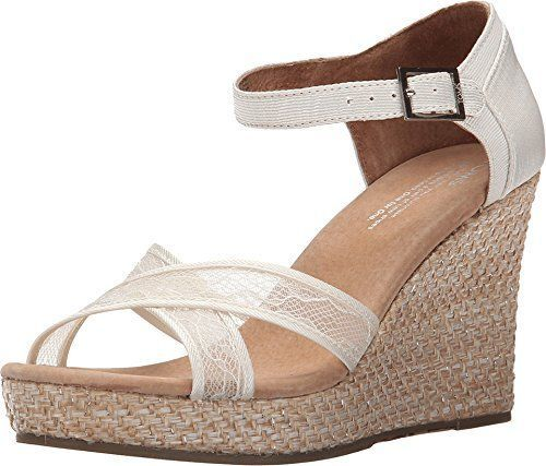 10005783-040 Toms Womens Wedding Wedge  Sandal 5 B (M)- Choose Sz/Color.