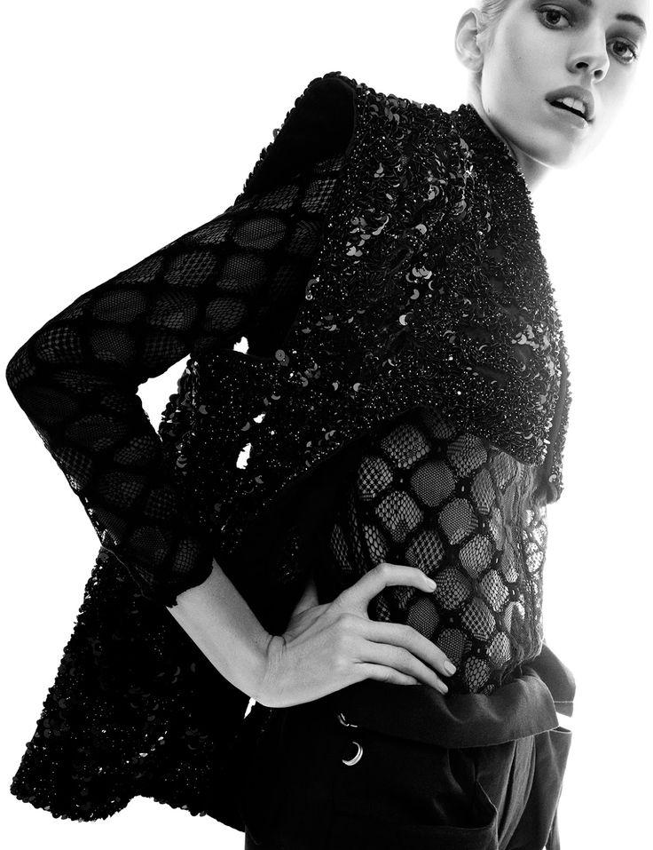 "Devon Windsor in ""Dark Bloom"" by Greg Kadel Vogue GermanyMay 2014"