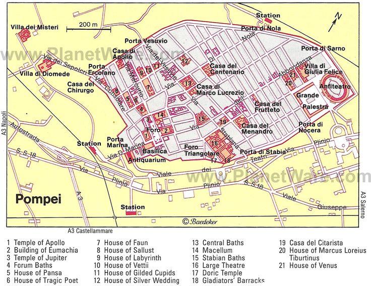 Map of Ancient Pompeii