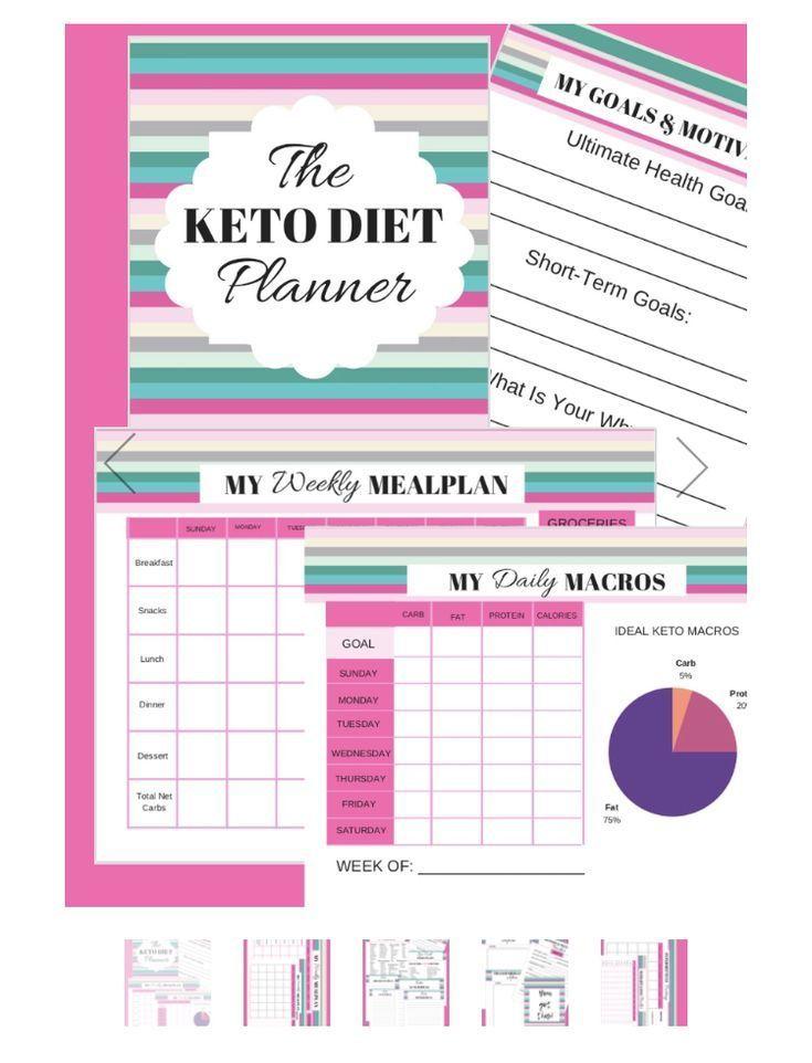 The Keto Diet Planner in 2019 Business Pinterest Keto, Diet