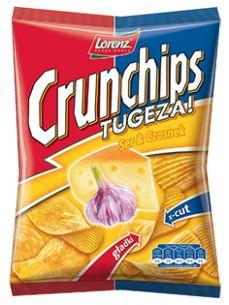 Podwójne doznania dla grzesznych i skuszonych ;) #Crunchips #tugeza #chips #cheese #garlic
