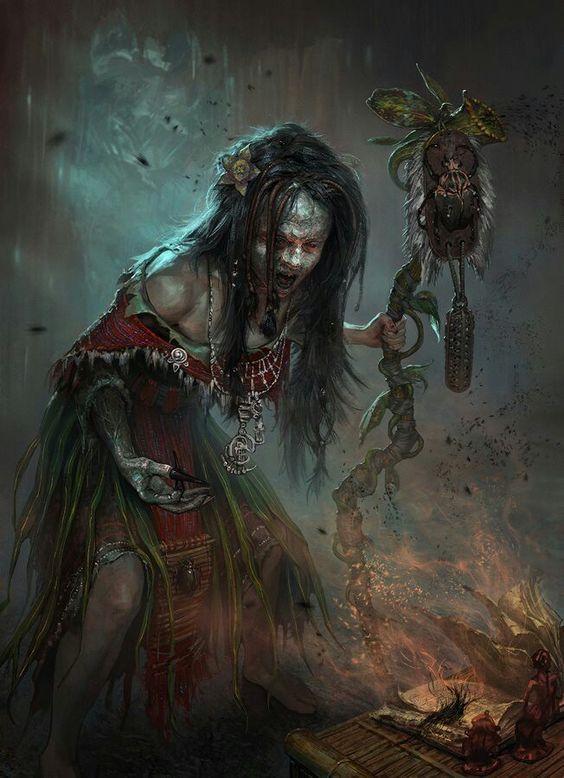 SHEKI, questa donna dall'aspetto emaciato è la sciamana del villaggio di Striga, l'unica che è in contatto con il grande Divoratore, un'entità che venerano gli Strigani. Dalla sua tenda è possibile spesso sentire voci urlare parole ultraterrene e gli spiriti albergano la sua mente, rendendola volubile e poco lucida il più delle volte.