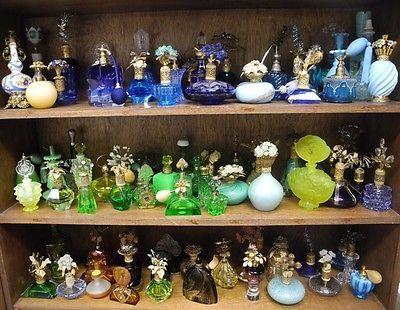 Colección  botellas de perfume vintage.