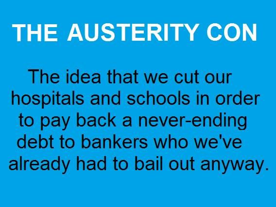 Perhaps the best summary I've seen. Attributed to Leanne Wood