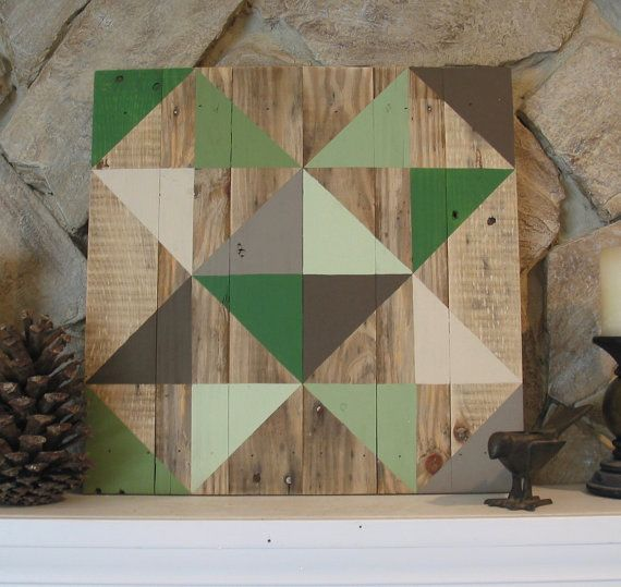 Rustic Barn Quilt by AmazingGraceGallery on Etsy