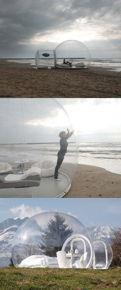 Nature can be so close with this Transparent Bubble Tent