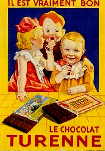 Vintage French Advertising Posters | Chocolate / Ancienne publicité Le chocolat Turenne