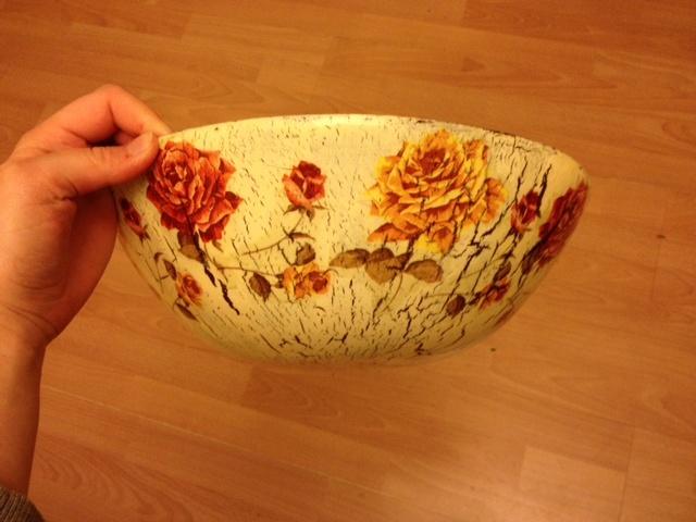 popcorn bowl - decoupage