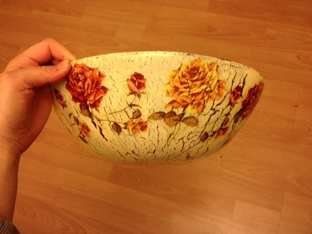 popcorn bowl - decoupage