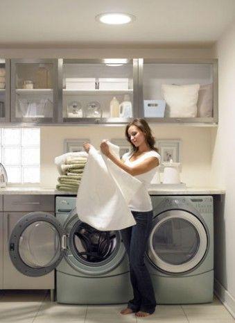Solar Tube Laundry Room