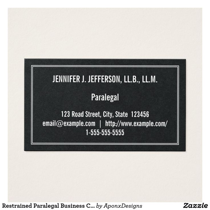 Restrained Paralegal Business Card
