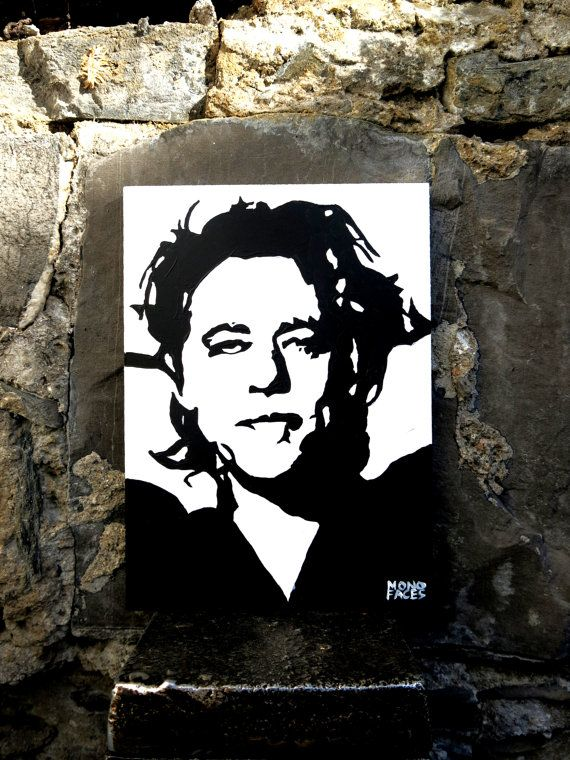 Hand painted acrylic piece of art of Bob Geldof. by MONOFACES, €14.00