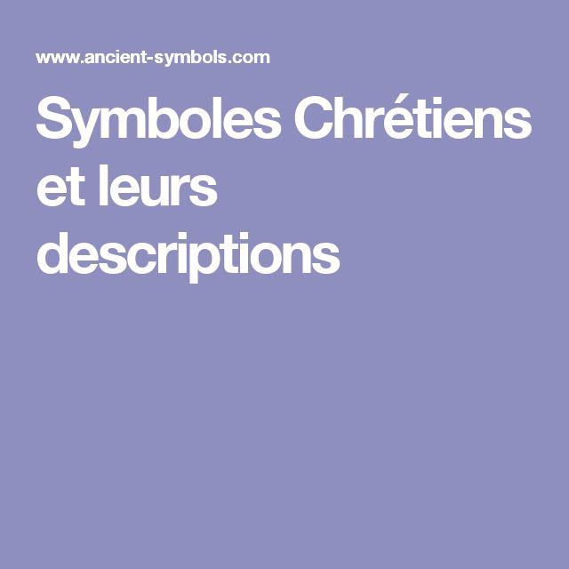 Symboles Chrétiens et leurs descriptions