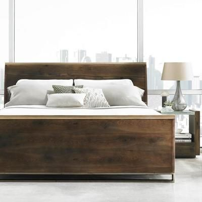 Caracole Night Cap Modern Artisans Contemporary Sleigh Bed