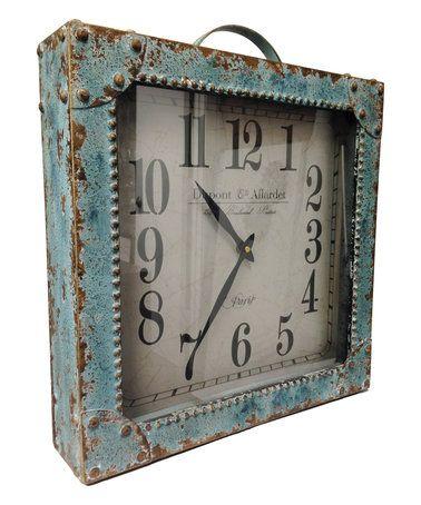 Look what I found on #zulily! Metal Briefcase Clock #zulilyfinds