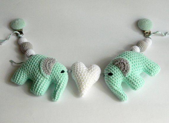 Elephant Mobile Free Crochet Pattern   EASYWOOL   415x570
