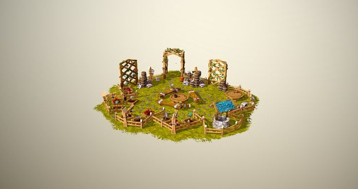 Herb Garden, low poly World of Warcraft based