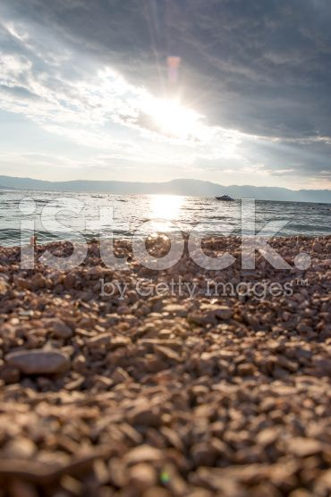 Close-up shot of pebbles on beach royalty-free stock photo