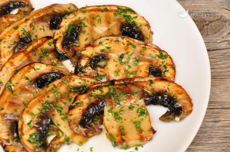 Bistecche di fungo alla piastra