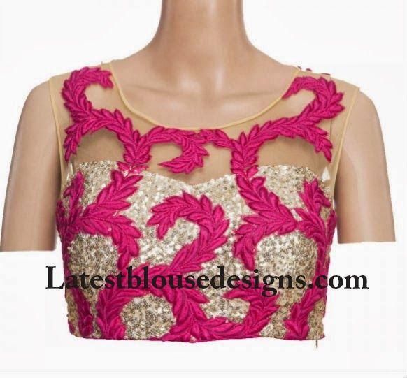 mesh insert blouse