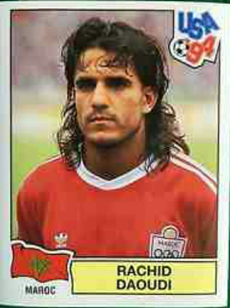 Rachid Daoudi of Morocco. 1994 World Cup Finals card.