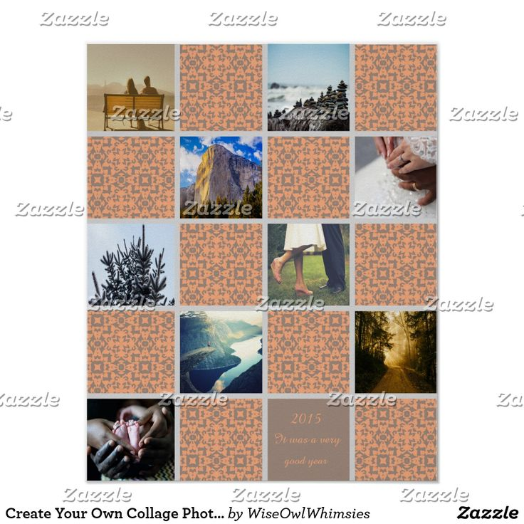 Create Your Own Collage Photos Template Custom Poster