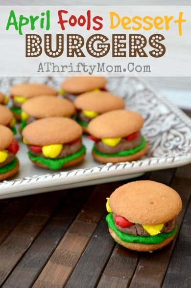 April Fools Dessert Burgers, Quick and easy dessert for APRIL FOOLS DAY #Recipe #AprilFools #Dessert #KidsRecipe