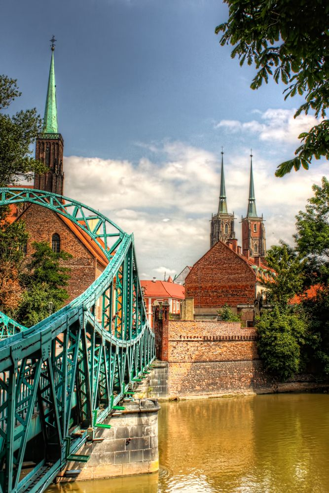 Tumski Bridge, Wroclaw, Poland