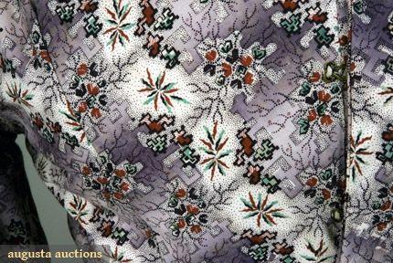 PURPLE PRINTED MATERNITY DRESS, 1828-1835