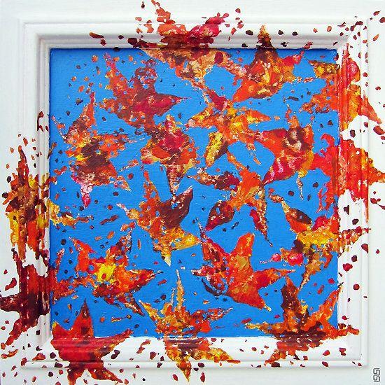 framed autumn #samserif #autumn #autumnleaves
