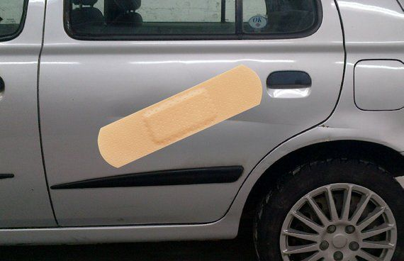 Band Aid Sticker For Car Dents Funny Bumper Sticker
