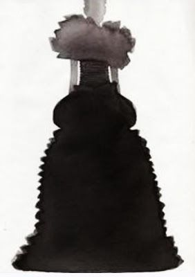 Swedish illustrator Mats Gustafson's fashion illustrations often focus on the silhouette