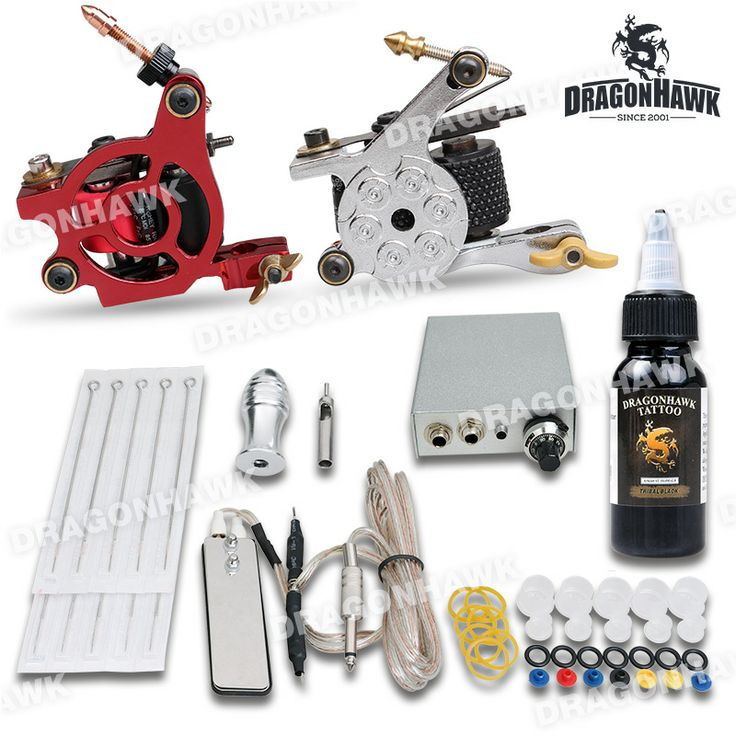 Beginner Tattoo Kit 2 Machine Gun Power Supply Needles 1OZ Ink [DIY-283-1(1 USO)] - US$36.99 : Dragonhawk tattoo supplies, tattoo kits,tattoo machines for sale global form tattoodiy.com