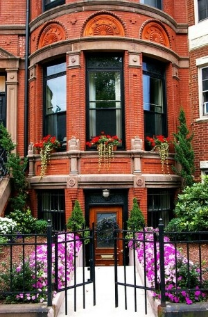 Curb Appeal, brownstone & wrought iron gate